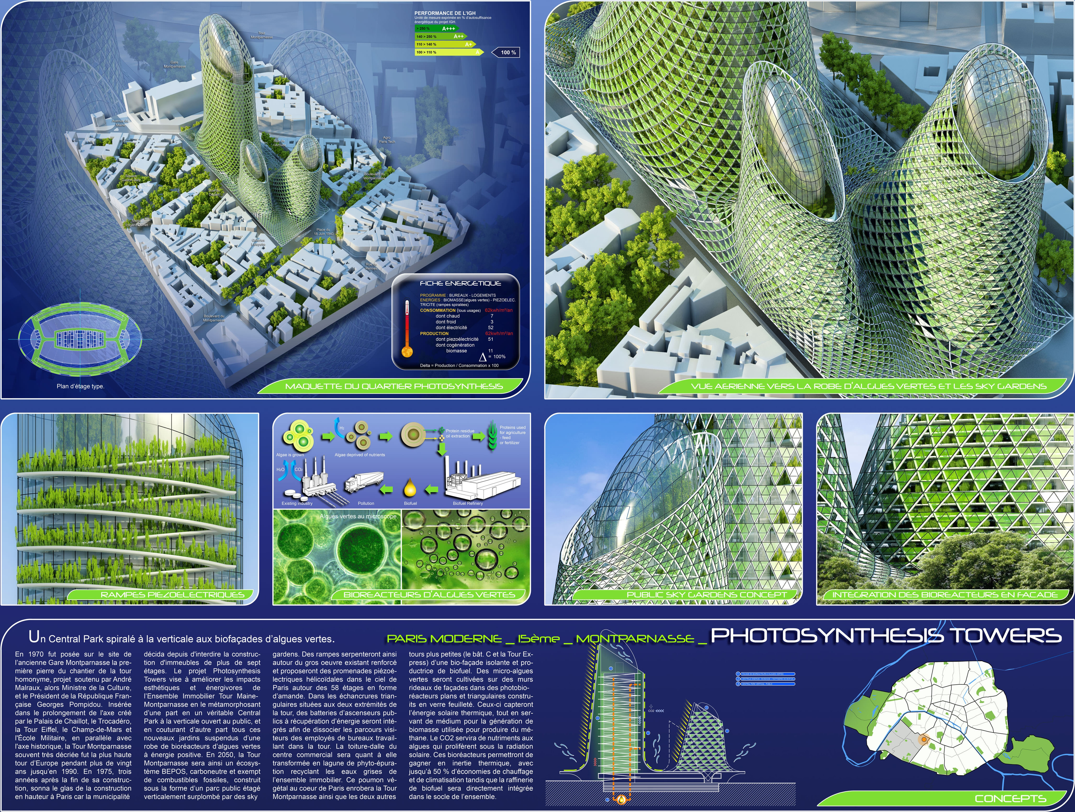 Photosynthesis Towers, Paris 2050