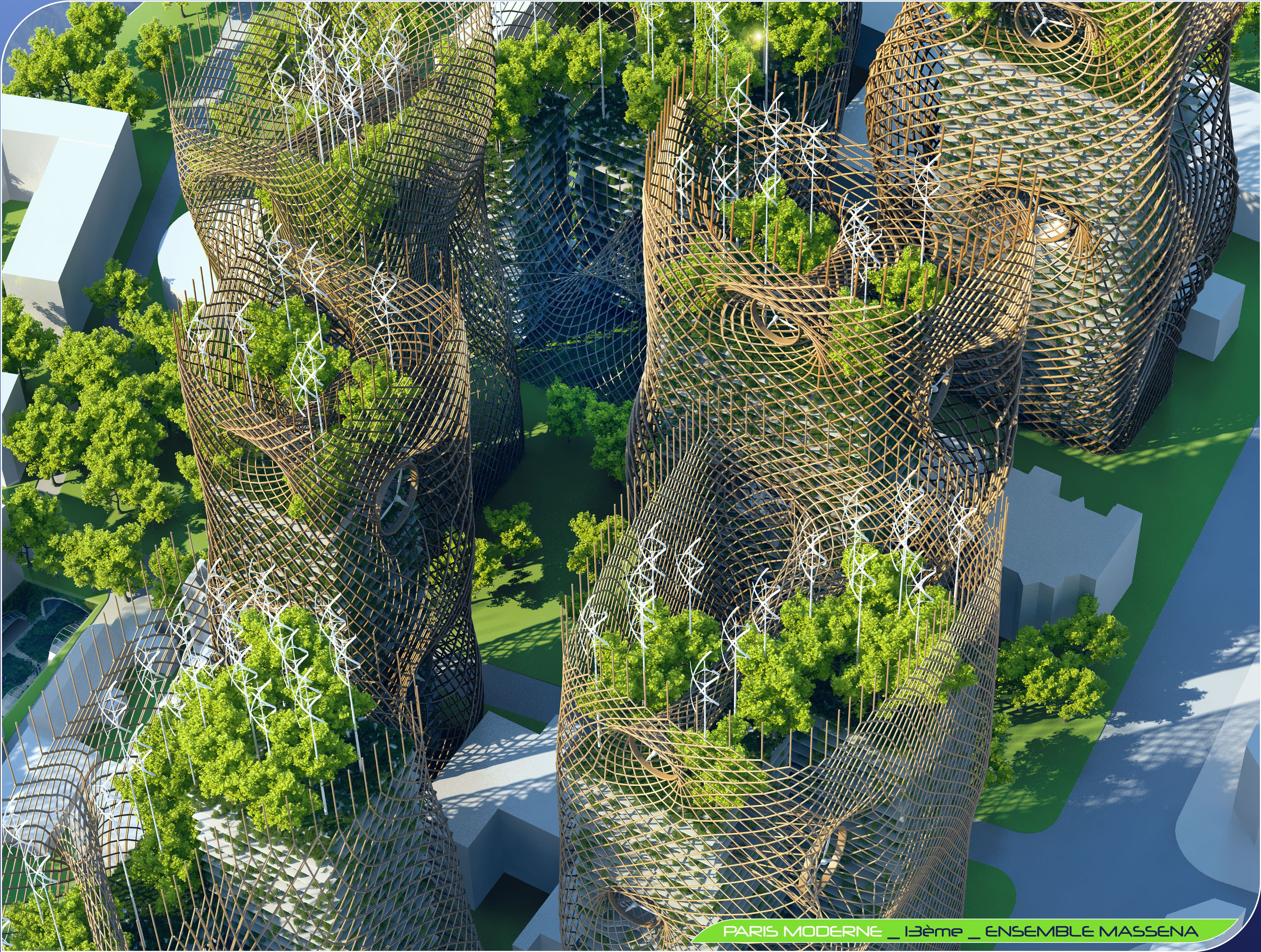 Paris 2050, Bamboo Nest Towers
