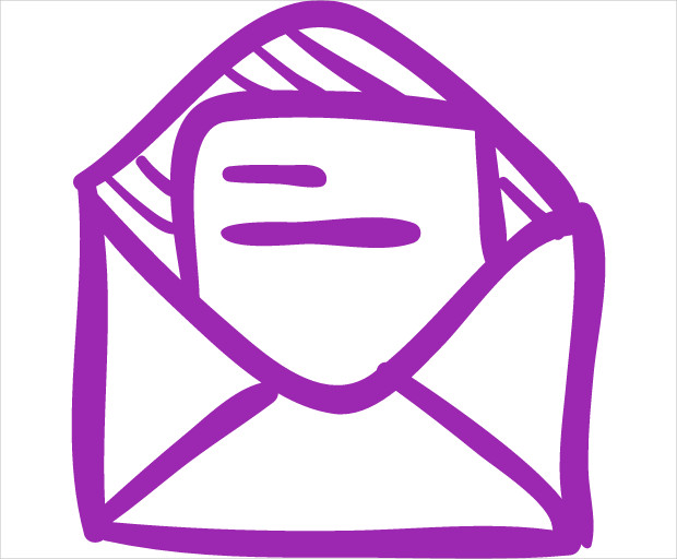Sketched Mail Icon