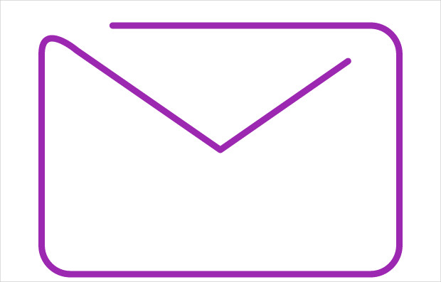 Continuous Line Mail Icon