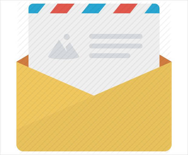 realistic email icon