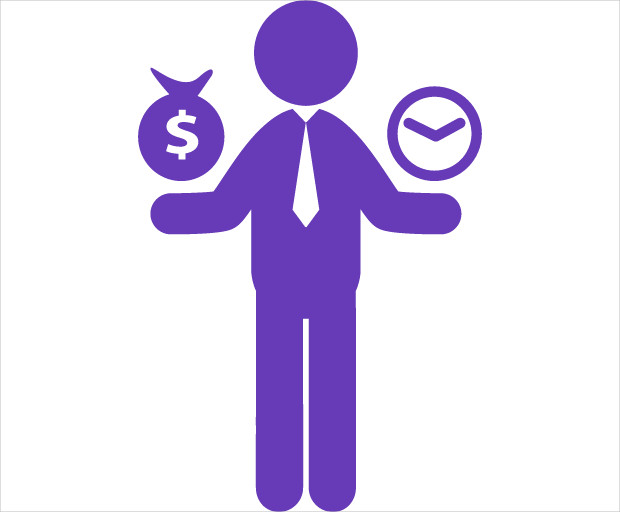 worker money time icon