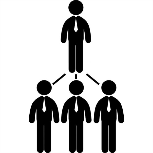 businessmen hierarchical icon