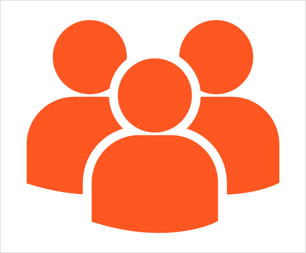 multiple users silhouette icon