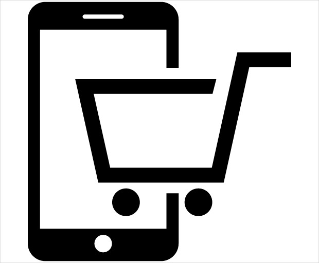 Buying on Smartphone Icon