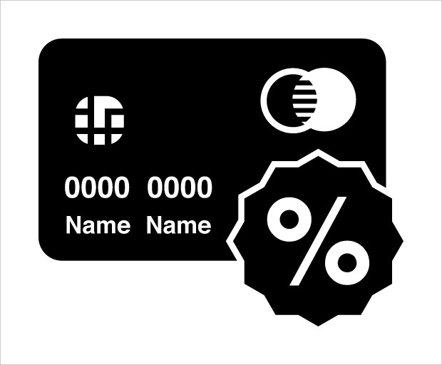 Credit Card with Discount Icon