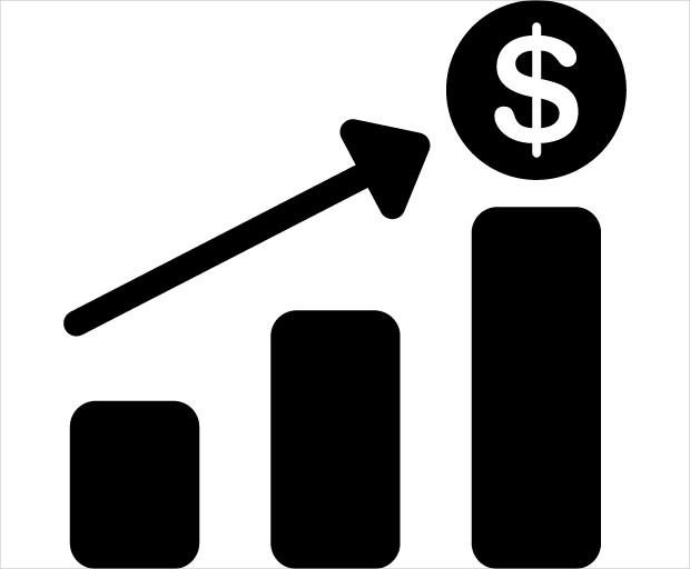 Financial Bar Chart Icons