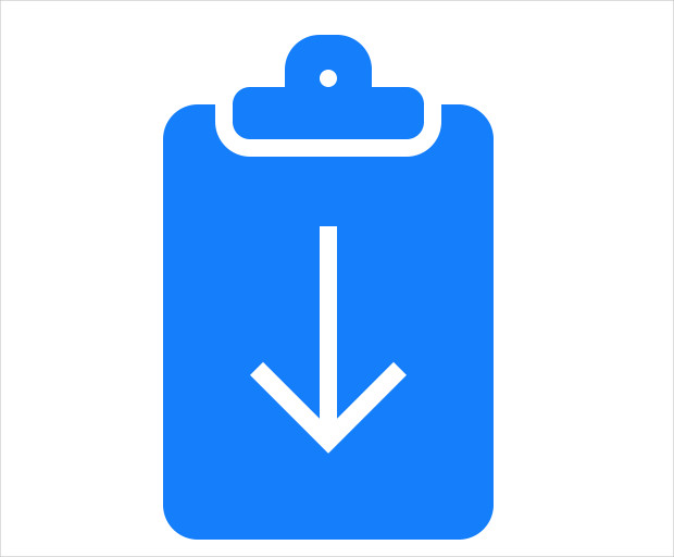 Clipboard Download Icon