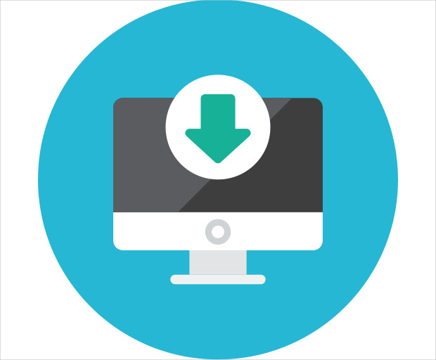 Computer Download Icon