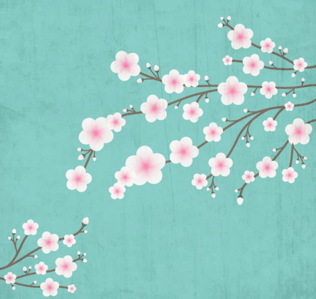 Blooming Cherry Vector