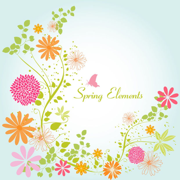 Free Spring Flowers Vector