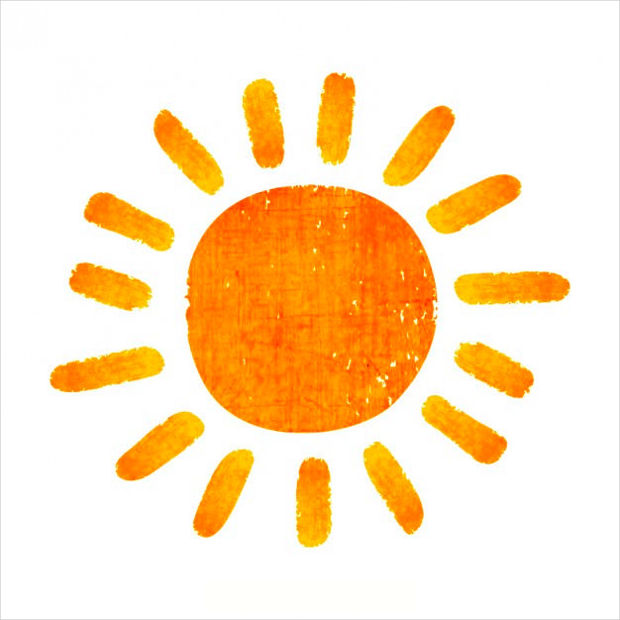 Hand Painted Sun Vector