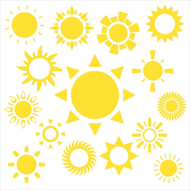 Yellow Sun Vectors