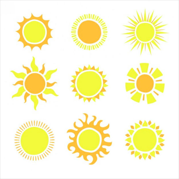 Shiny Sun Icons Vector