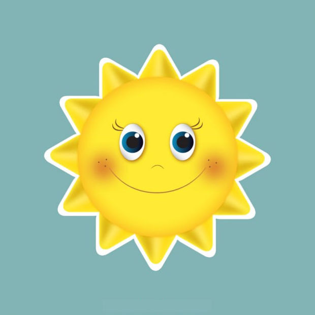 Free Smiling Sun Vector