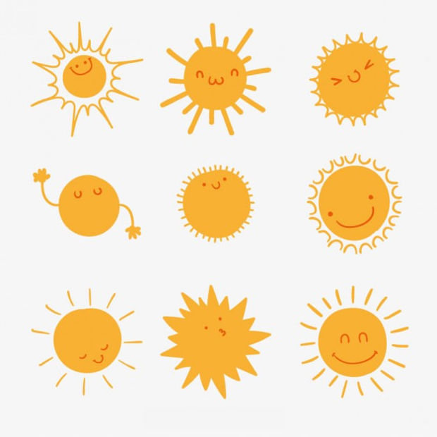 Lovely Suns Vector