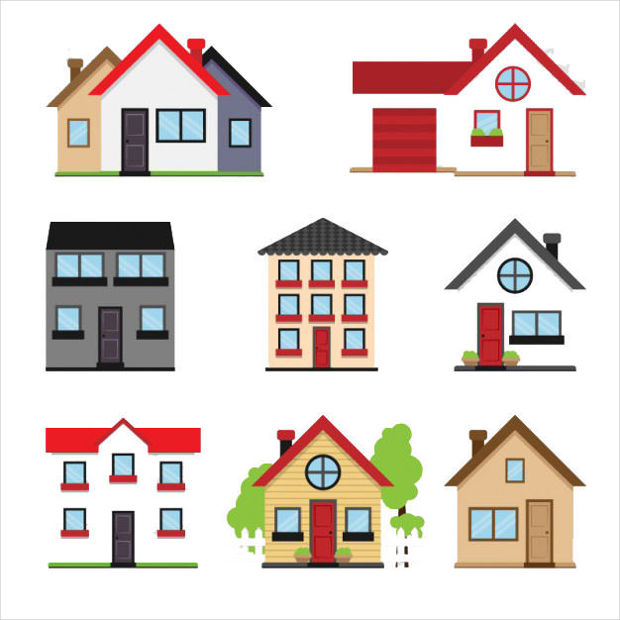 Houses Collection Vector