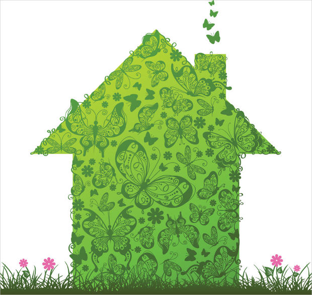 Green House Vector