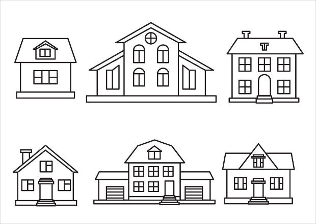 Outlined House Vector