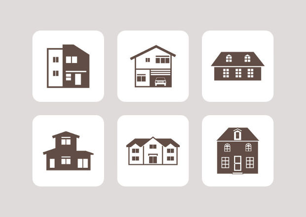 Houses Icon Vector