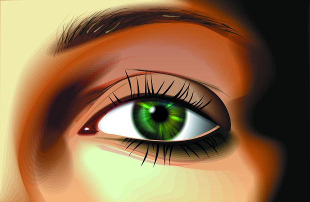 beautiful eyes vector design