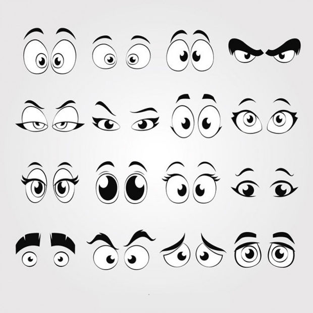 Cartoon Eyes Vector Design