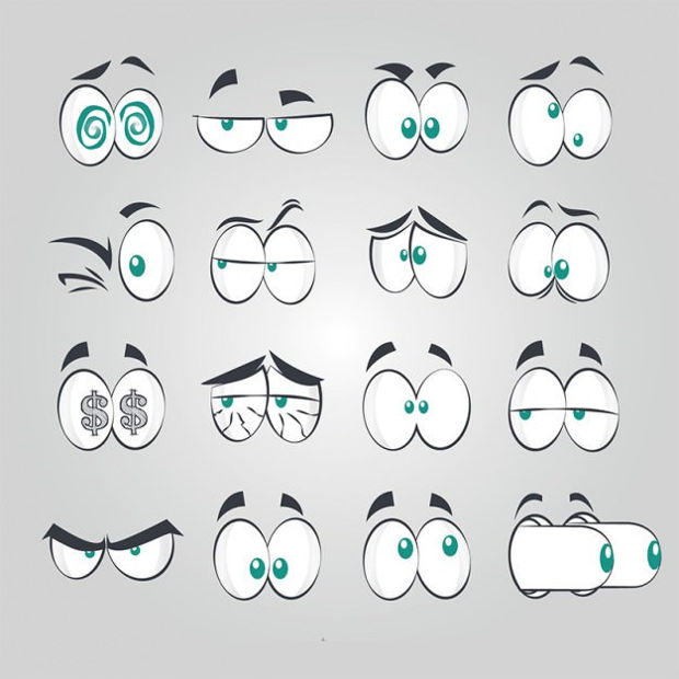 Comic Style Eye Vectors
