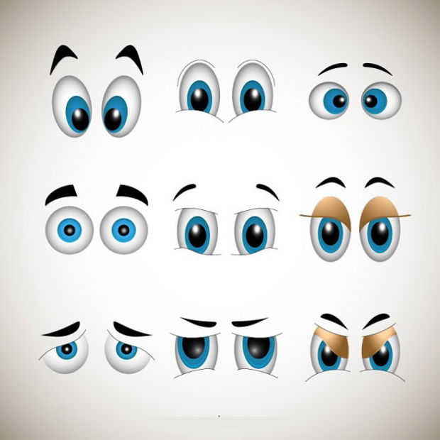 Emotional Eyes Vector Design