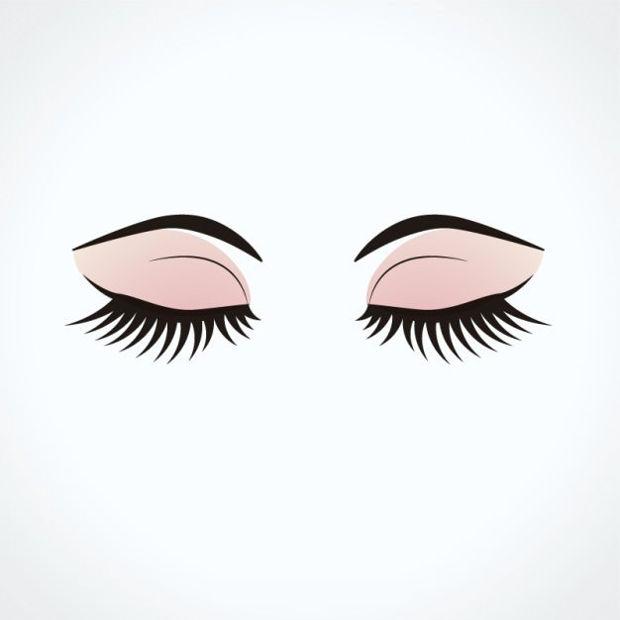 closed eyes vector design