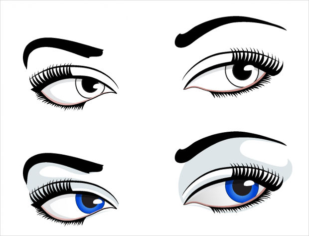 Beautiful Eyes Vector