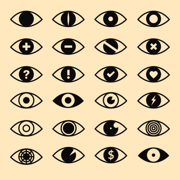 Eyes Icon Vector Design