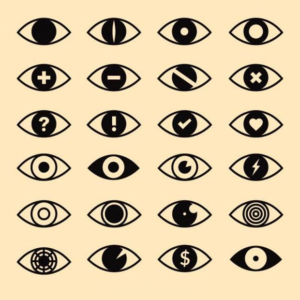 eyes icon vector design