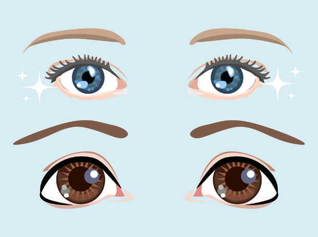 simple eyes vector design