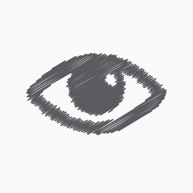sketchy eye vector