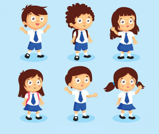 Student Characters Vector