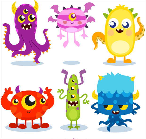 Monster Character Vector