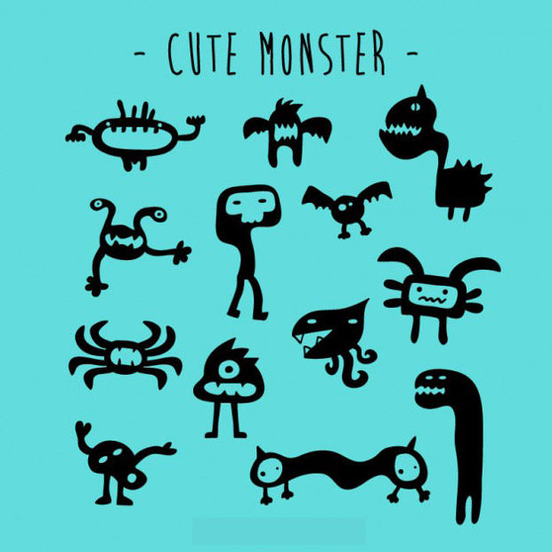 Cute Monster Vector