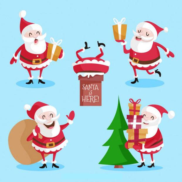 Santa Claus Character Vector