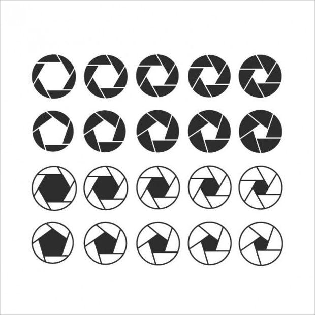 Camera Shutter Vectors