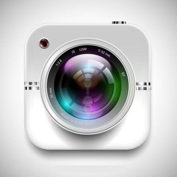 Realistic Camera Lens Vector