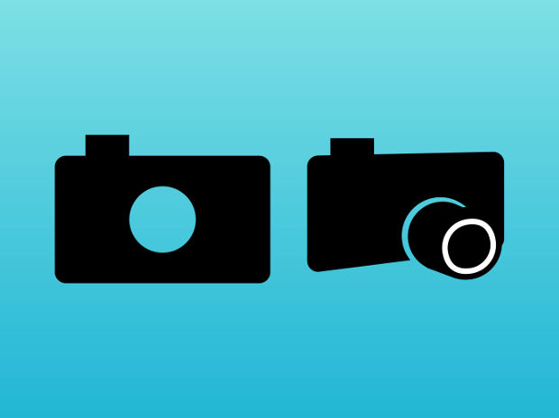 Stylized Camera Vector