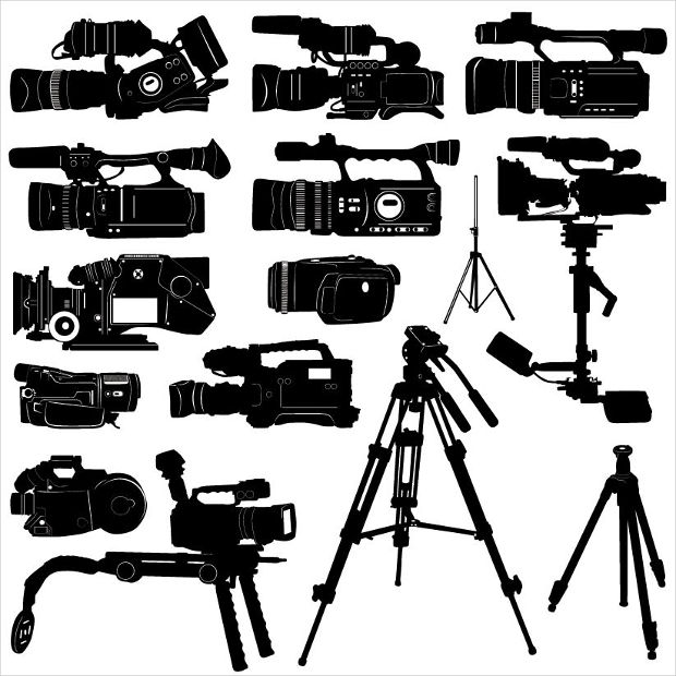 camcorder elements vector