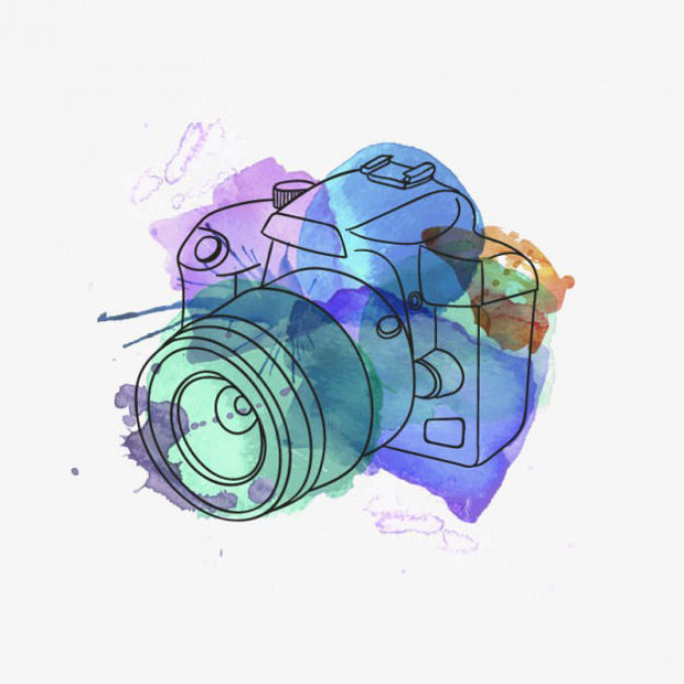 Colourful Camera Vector