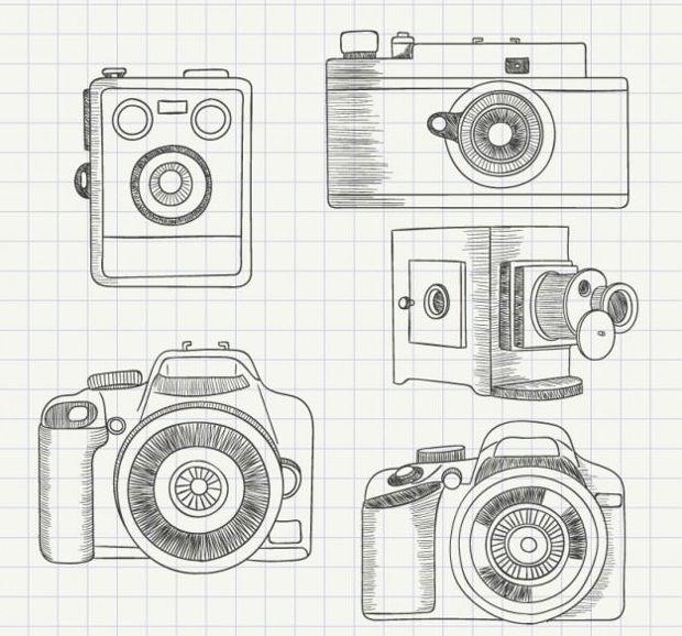 Sketchy Camera Vector