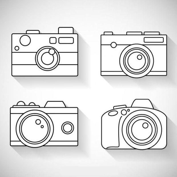 White Camera Vector