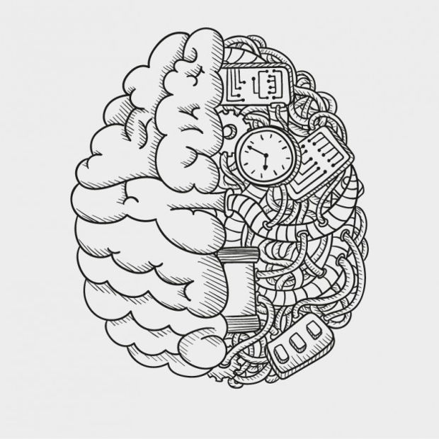 mechanical brain vector