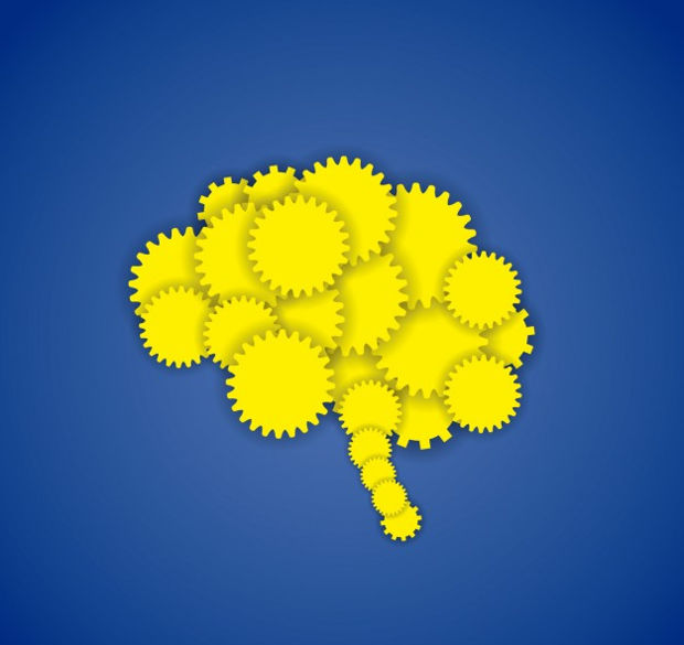 Unique Brain Gear Vector