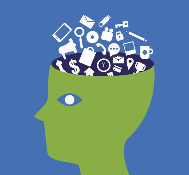 tech wise brain vector