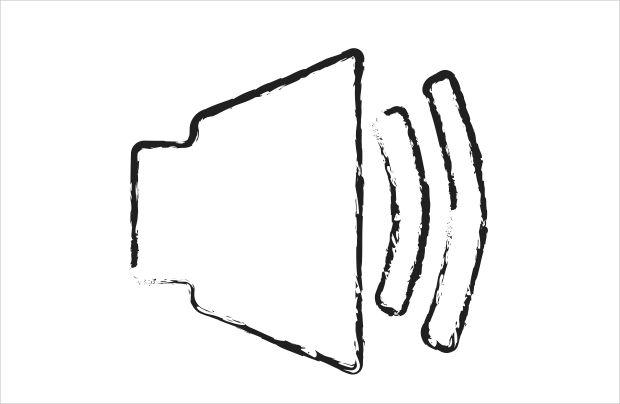 Sketchy Speaker Icon