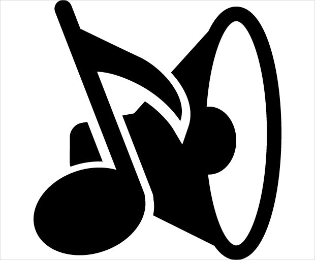 Speaker and Musical Note Icon